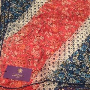 New! Liberty of London Silk Scarf - 🇬🇧 flag